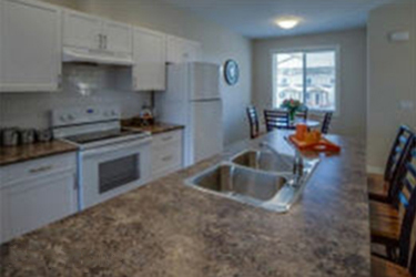 photo of kitchen in The Hudson Townhomes