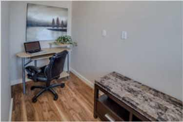 photo of a home office in The Hudson Townhomes