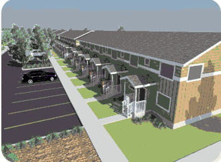 rendering of Southview Townhomes